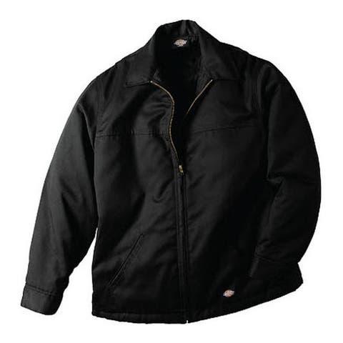 Dickies Men's Hip Length Twill Jacket Black