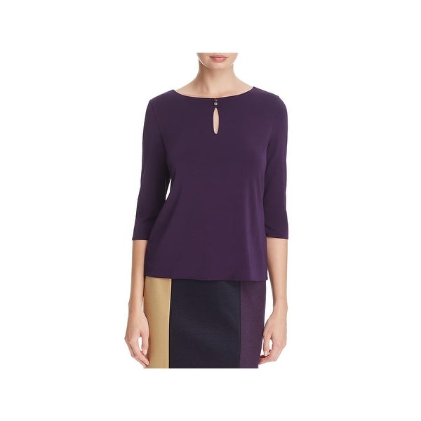 5d3b9babe806 Hugo Boss Womens Epina Pullover Top 3 4 Sleeves Officewear. Click to Zoom