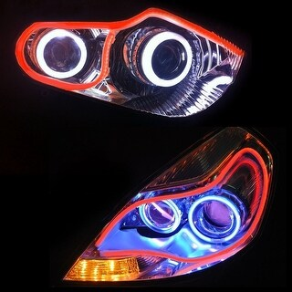 35inch/90cm Automobile LED Neon Strip Lights, Illuminating Headlight, Flexible Daytime Running & Contouring Tube Light