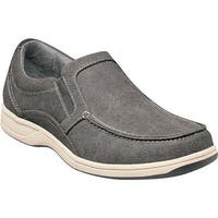 Florsheim Men's Lakeside Moc Toe Slip On Gray Canvas/Gray Suede