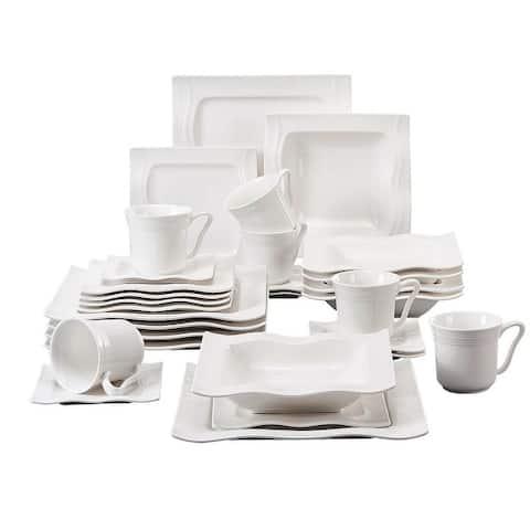 MALACASA Mario Porcelain Dinnerware Set (Service for 6)