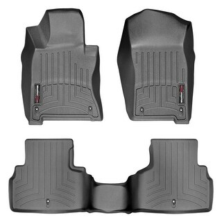 WeatherTech 44586-1-2 Black Front & Rear FloorLiner: Infiniti Q50 2014 +