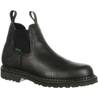Georgia Boot Men's GB00084 Georgia Giant Waterproof High Romeo Boot Black Full Grain Leather