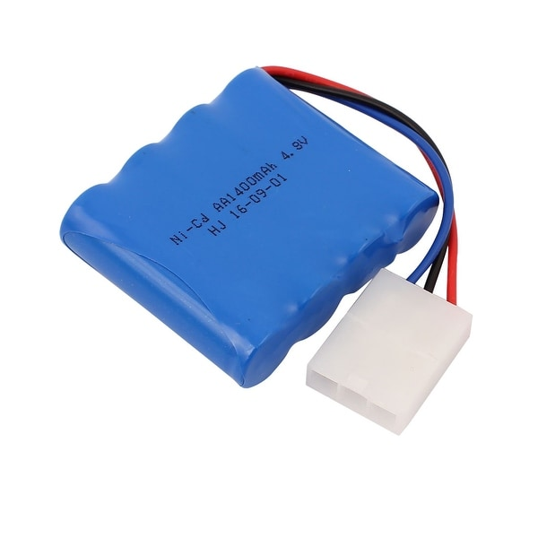 DC 4.8V 1400mAh Rechargable AA Lithium Battery Pack for RC Aircraft Blue