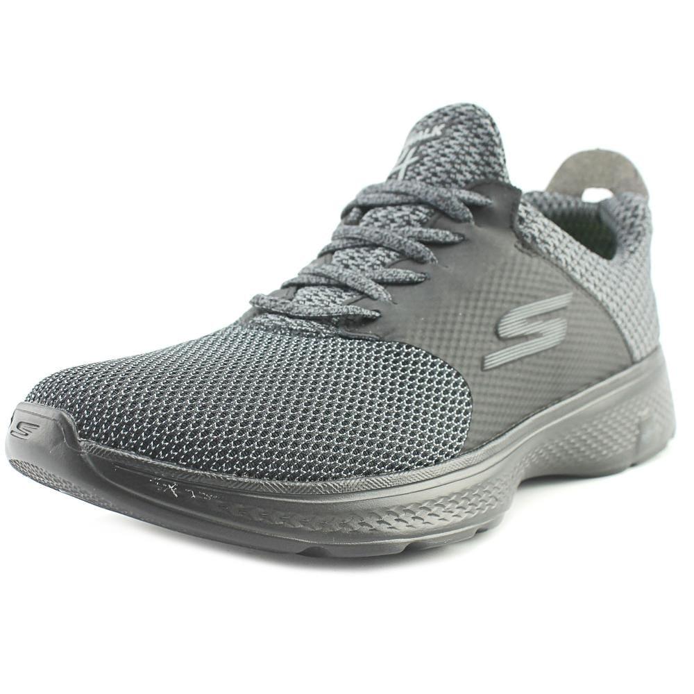 Skechers GoWalk 4 Instinct Men Round Toe Synthetic Black Walking Shoe