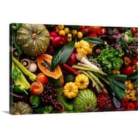 Premium Thick-Wrap Canvas entitled Fruit and vegetables still life. - Multi-color