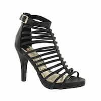 Red Circle Footwear 'Amauri'  High Heel Gladiator Sandal in Black