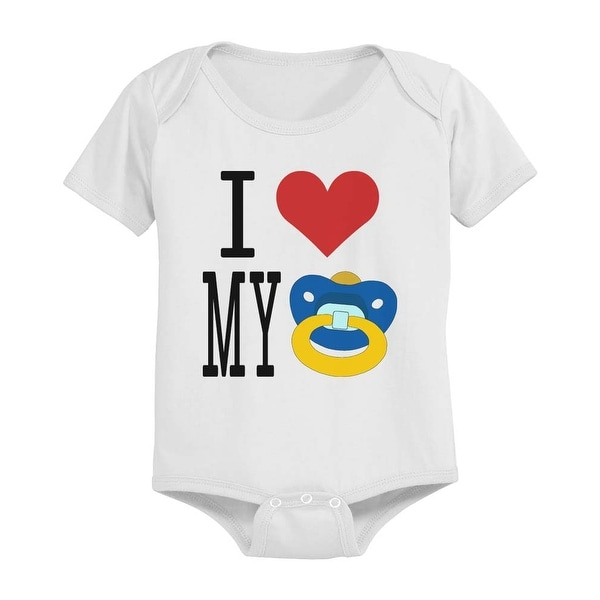 I Love My Pacifiers Funny White Baby Bodysuit Great Gift Ideas