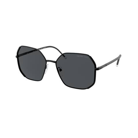 Prada PR 52WS 1AB5Z1 58 Nero Woman Irregular Sunglasses