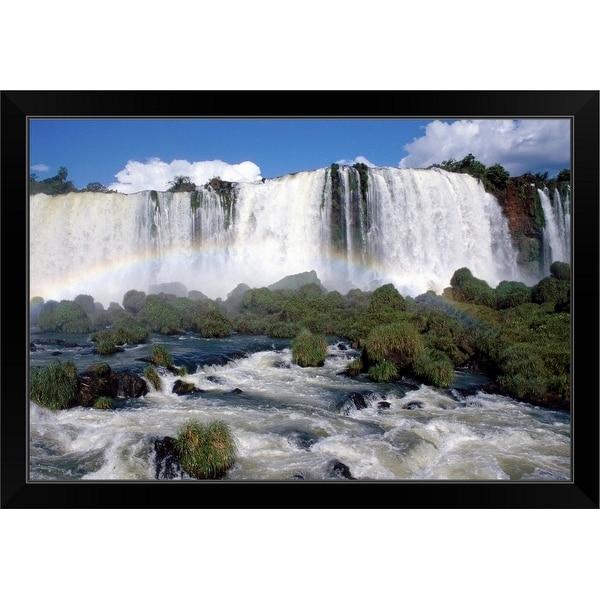 """Waterfall"" Black Framed Print"