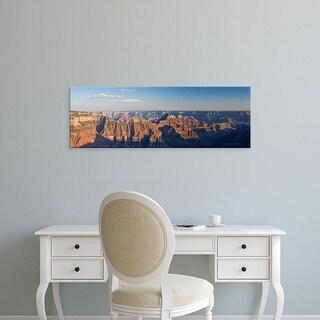 Easy Art Prints Panoramic Image 'Rock formations, canyon, North Rim, Grand Canyon National Park, Arizona' Canvas Art
