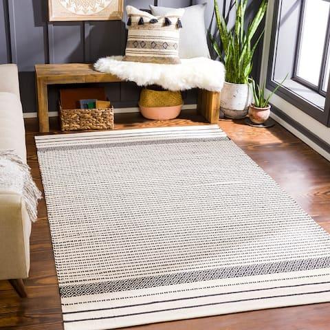 Filipp Handmade Nordic Stripe Area Rug