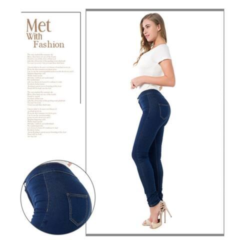 High Waist Elasticity Hips Jeans