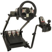 d0902f9d824 Conquer Racing Simulator Cockpit Driving Gaming Wheel Stand and Gear Shifter  Mount