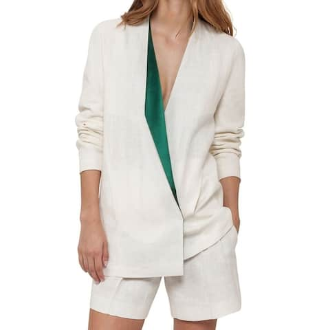 Akris Women's Lapel-Collar Linen Jacket