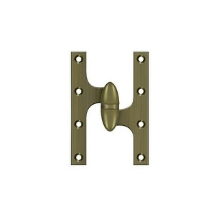 "Deltana OK6040B-R 6"" x 4"" Solid Brass Right Hand Olive Knuckle Hinge with Ball Bearing"