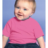 Rabbit Skins 3401 Infant Cotton T-Shirt - Raspberry, Size 12