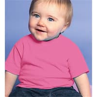 Rabbit Skins 3401 Infant Cotton T-Shirt - Raspberry, Size 6