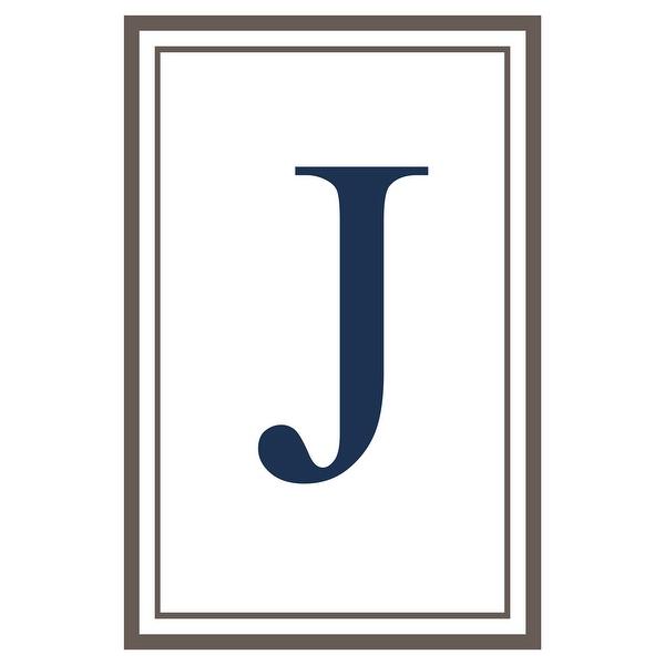 Monogram - Estate - Gray & Blue - J (Cotton/Polyester Chef's Apron)