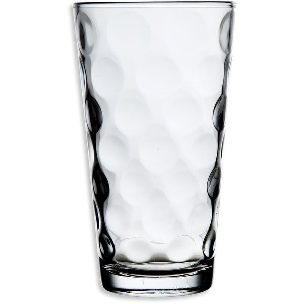 Palais Glassware Cercle Collection; High Quality Clear Glass Set with Circle Design (Set of 6 - 17 O