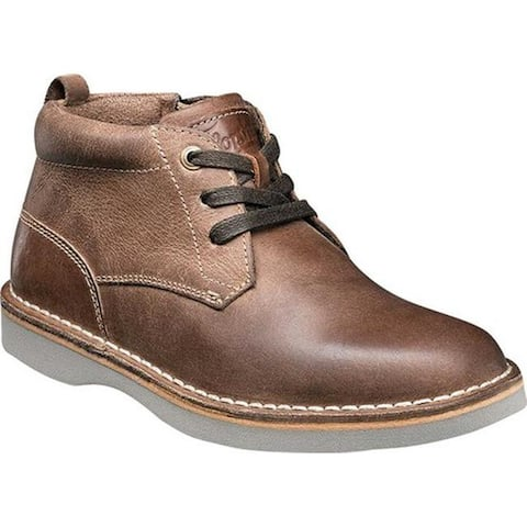 Florsheim Boys' Navigator Chukka Boot Jr. Brown Leather