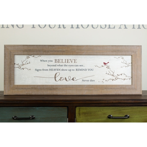 When You Believe Beyond What Your Eyes Can See Miracles From Heaven Love Framed Art Sympathy Gift. Opens flyout.