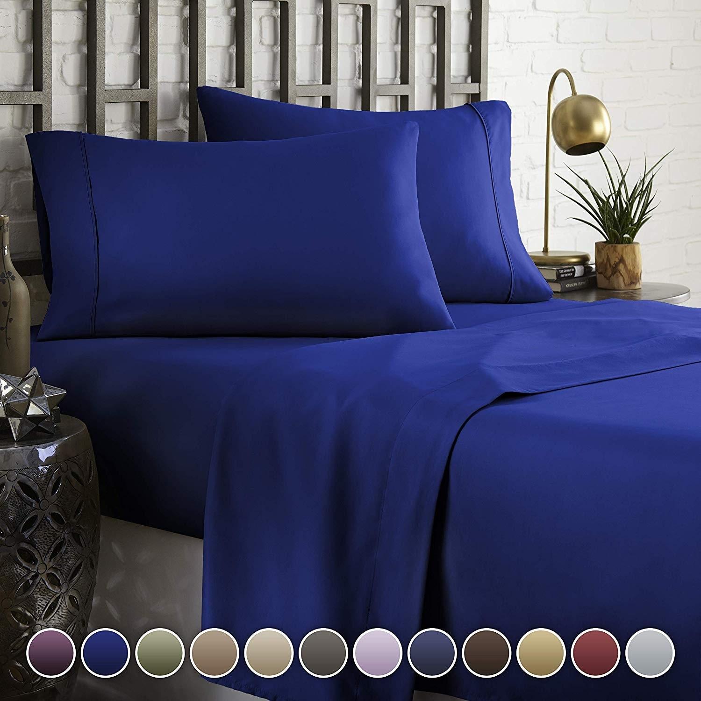 6 Piece Hotel Luxury Soft 2200 Series Premium Bed Sheets Set