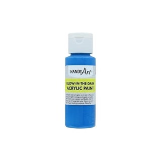 Handy Art Acrylic Paint Glow In The Dark 2oz Blue