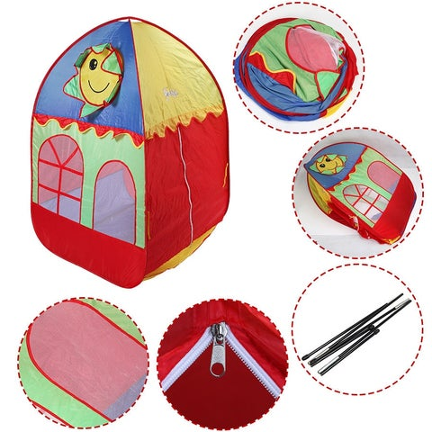Costway Kids Baby Play Tent House Playhouse Cute Indoor Outdoor Portable Foldable Gift