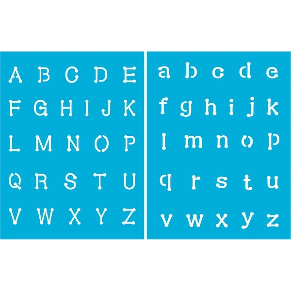 """Americana Alphabet Stencils 8.5""""X11""""-Connect The Dots. Opens flyout."""