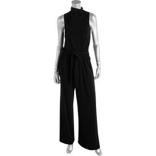 Lauren Ralph Lauren Womens Matte Jersey Wide Leg Jumpsuit