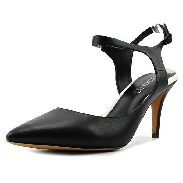 Aldo Crosare Women Pointed Toe Leather Black Slingback Heel