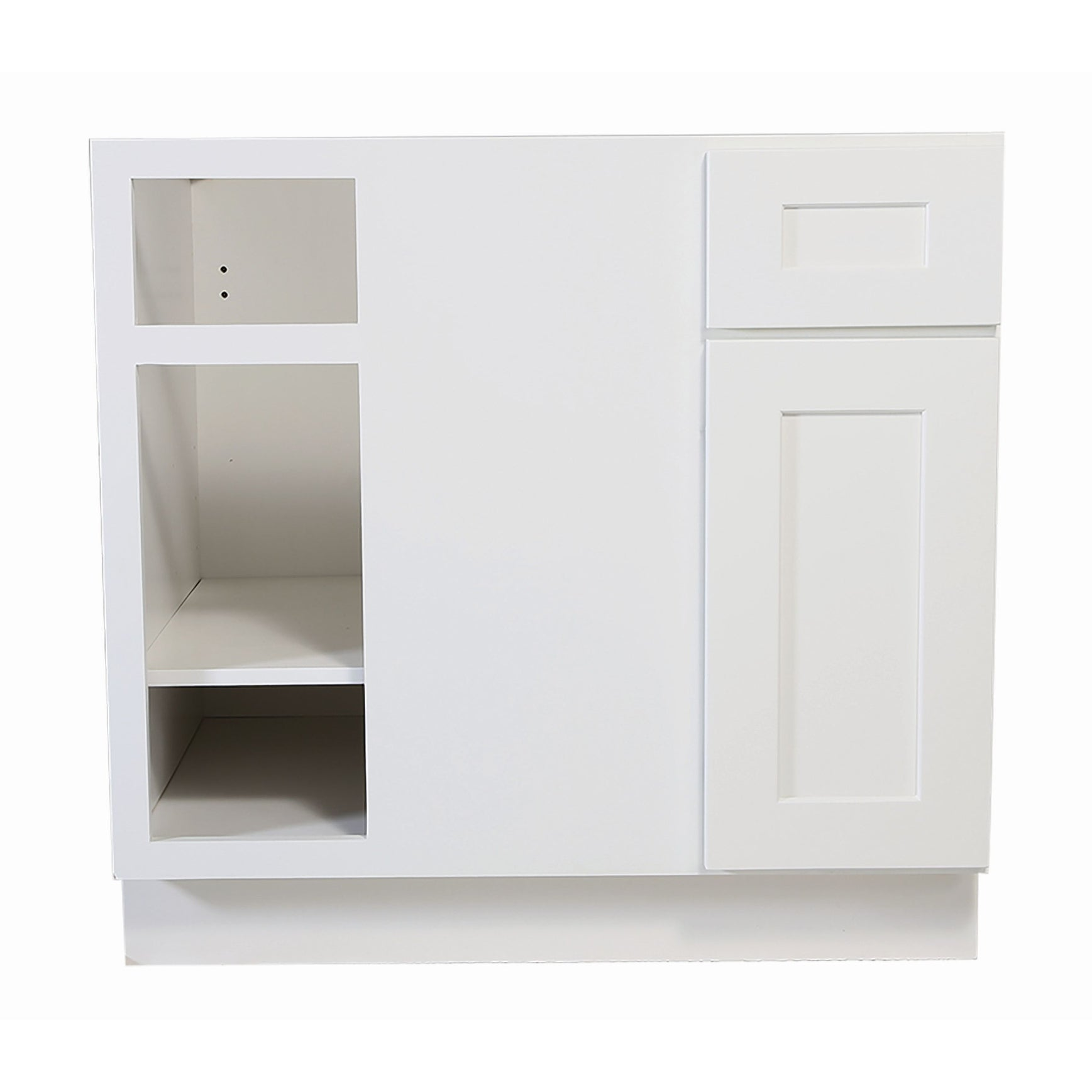 Design House 561522 Brookings 36 Wide X 34 1 2 High Kitchen Blind Corner Base Cabinet With Single Door White