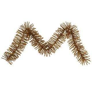 "9' x 10"" Ant Gold Mini Garland 50CL 500T"