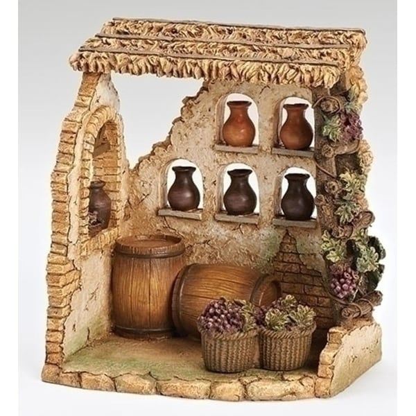 "Fontanini 5"" Religious Christmas Nativity Wine Shop Village Decoration #5579"