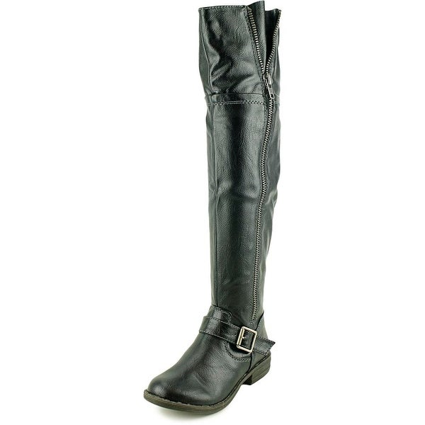 American Rag Ikey 2 Women Round Toe Synthetic Black Over the Knee Boot