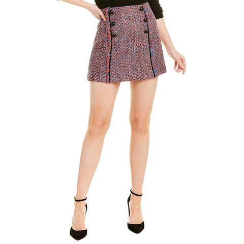Veronica Beard Tweed Wool-Blend Mini Skirt