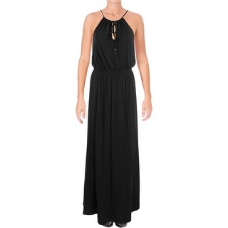 Ella Moss Womens Bella Maxi Dress Embroidered Halter - s