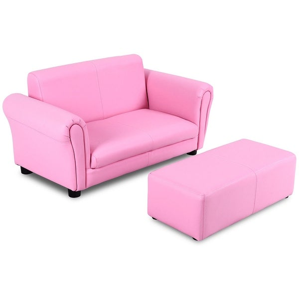 Sensational Shop Costway Pink Kids Sofa Armrest Chair Couch Lounge Gmtry Best Dining Table And Chair Ideas Images Gmtryco
