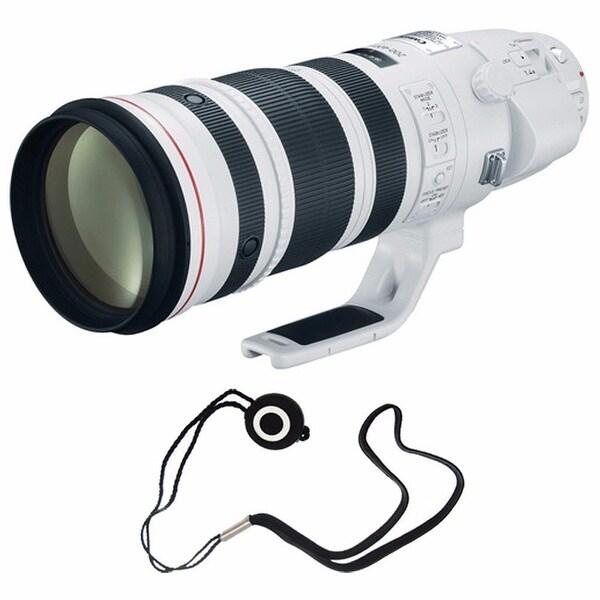 Canon EF 200-400mm f/4L IS USM Lens (International Model) + Lens Cap Keeper Bundle (AF6CAN200400LUSMB5)