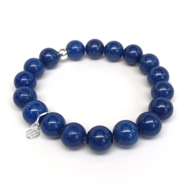 "Blue Jade Eternal 7"" Bracelet"