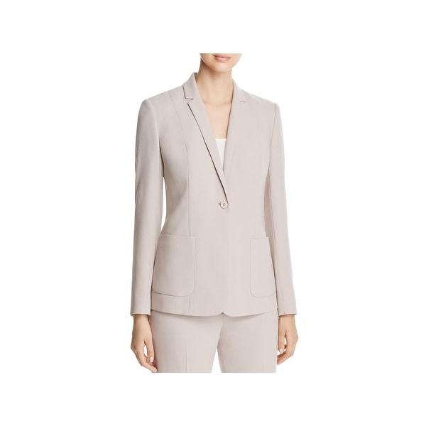Shop Elie Tahari Womens Wendy One Button Suit Jacket Long Sleeve
