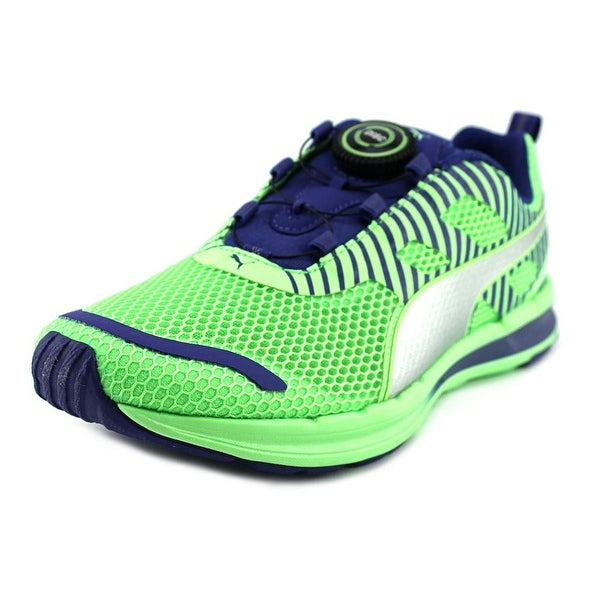 Puma Speed 300 S Disc Men Round Toe Synthetic Green Running Shoe
