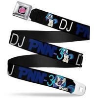 My Little Pony Logo Full Color Black Pink DJ Pon 3 Pose Black Blue White Seatbelt Belt