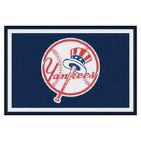 MLB New York Yankees 5 x 8 Foot Plush Non-Skid Area Rug
