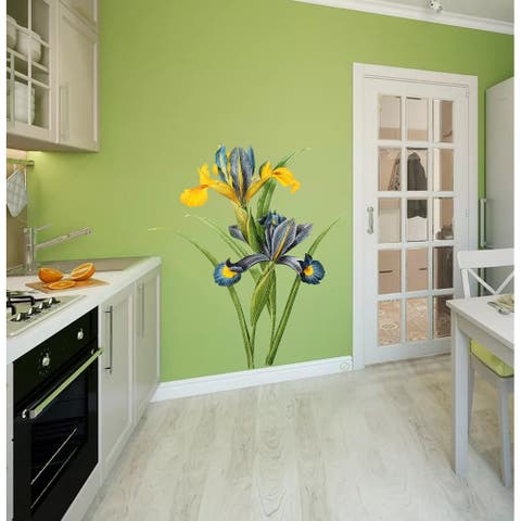 Yellow Orchid Wall Decal, Yellow Orchid Wall sticker, Yellow Orchid wall decor