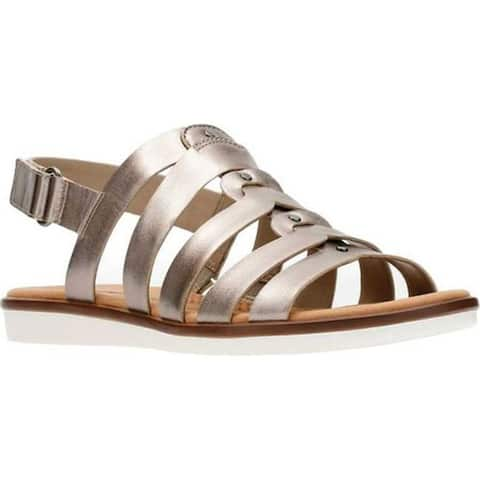 3bef07dbe Clarks Women s Kele Jasmine Fisherman Sandal Pewter Leather
