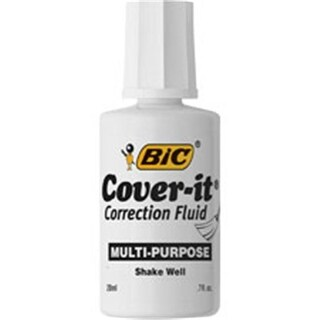 Bic BICWOC12WE Bic Cover-it Correction Fluid, White