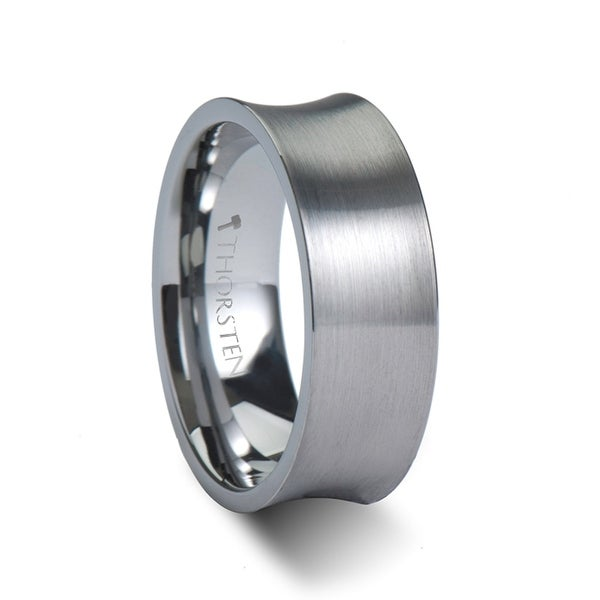 THORSTEN - TUCSON Concave Tungsten Carbide Ring with Brushed Finish