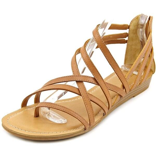 Carlos by Carlos Santana Amara Women Open Toe Synthetic Tan Sandals